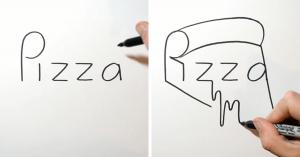 perierga.gr - Καλλιτέχνης μετατρέπει τις λέξεις σε... σχήματα!