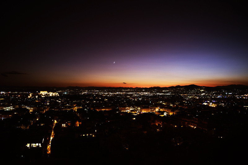 perierga.gr - Το υπέροχο ηλιοβασίλεμα της Αθήνας από τον Λυκαβηττό!