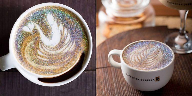 perierga.gr - Glitter cappuccino: Η νέα τάση στον καφέ!