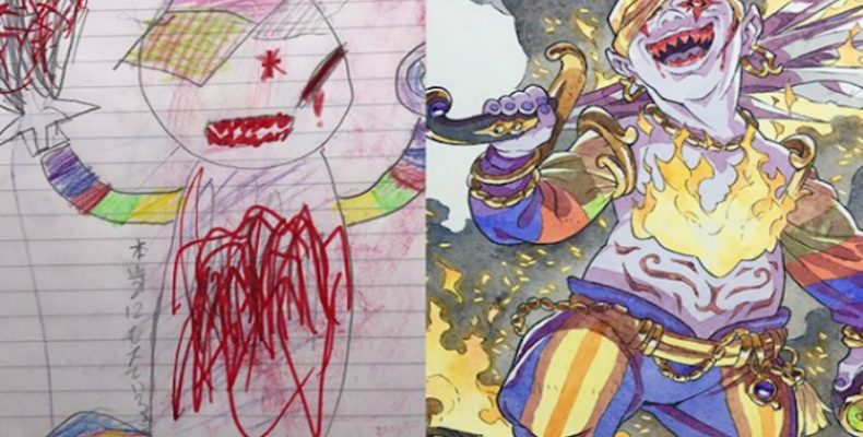Perierga.gr - Παιδικές ζωγραφιές μεταμορφώνονται σε απίστευτα anime