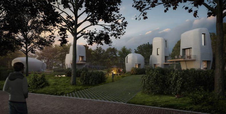 Perierga.gr - Τα πρώτα κατοικήσιμα 3D εκτυπωμένα σπίτια στην Ολλανδία