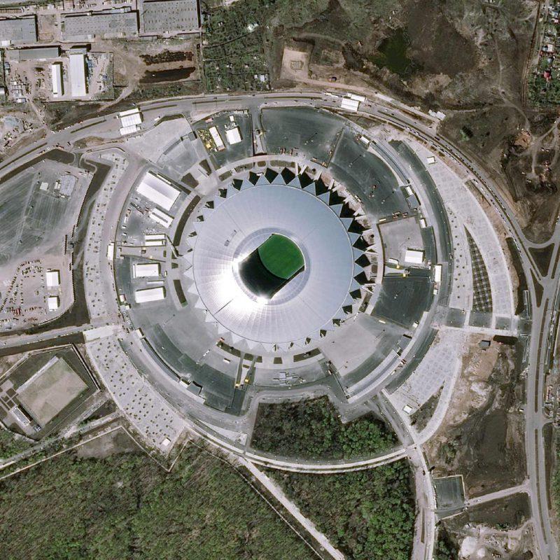 Perierga.gr - Αεροφωτογραφίες από τα γήπεδα που θα φιλοξενήσουν το Παγκόσμιο Κύπελλο της Ρωσίας
