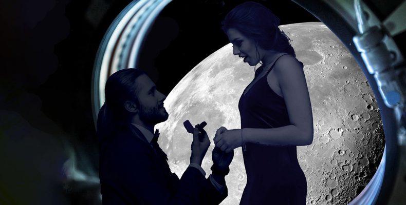 Perierga.gr - Πρόταση γάμου για τους άκρως ρομαντικούς σε πτήση πάνω από τη Σελήνη...