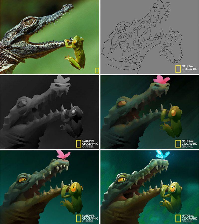 Perierga.gr - Φωτογραφίες του National Geographic εικονογραφούνται και εντυπωσιάζουν!