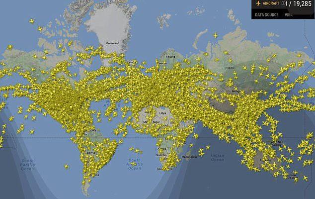 Perierga.gr - 202.000 πτήσεις στον ουρανό: Από τις πιο πολυσύχναστες ημέρες αεροπορικών ταξιδιών