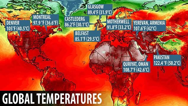Ρεκόρ υψηλών θερμοκρασιών σε διάφορες περιοχές του πλανήτη