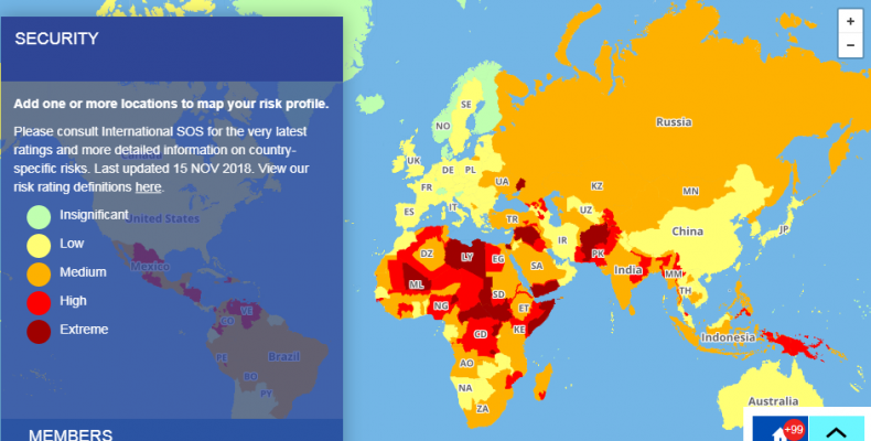 Perierga.gr - Χάρτης: Οι πιο επικίνδυνες χώρες για το 2019