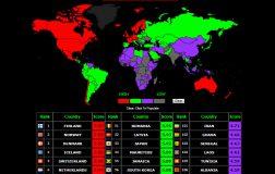 Perierga.gr - Ποιες είναι οι ποιο χαρούμενες χώρες; (χάρτης)