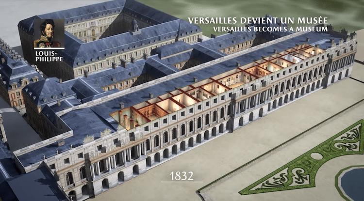 Perierga.gr - To παλάτι των Βερσαλλιών τα τελευταία 400 χρόνια