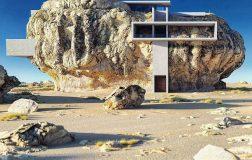 Μοντέρνο σπίτι χτισμένο σε βράχο!