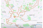 Perierga.gr - Έκανε 9 ώρες ποδήλατο για να σχεδιάσει έναν τάρανδο στον χάρτη