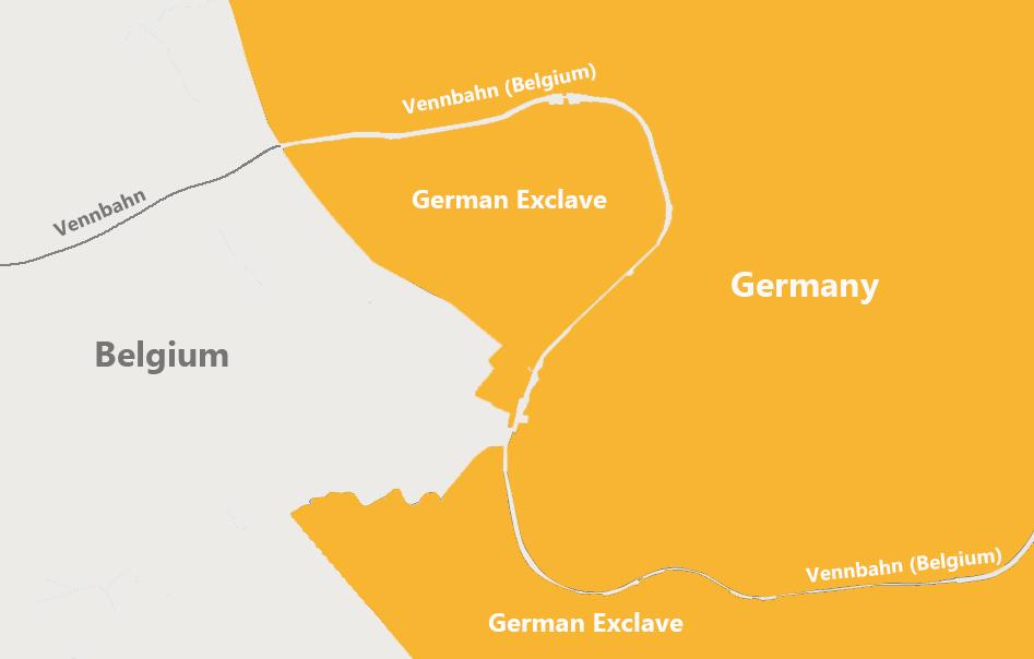 Βεννάμπν: Ο βελγικός δρόμος που περνούσε μέσα από τη Γερμανία