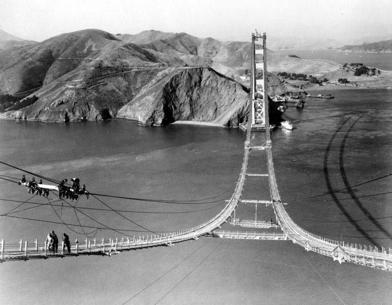 Perierga.gr - Φωτογραφίες από την κατασκευή της διάσημης Golden Gate το 1937