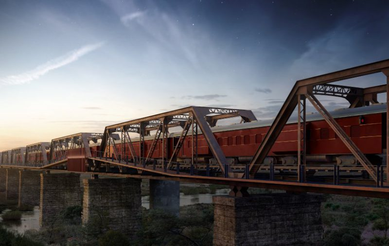 Perierga.gr - Ξενοδοχείο χτίζεται στις ράγες τρένου πάνω σε γέφυρα!