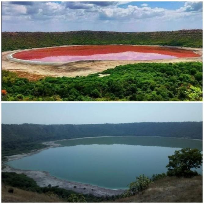 Perierga.gr - Μυστήριο με λίμνη 50.000 χρόνων στην Ινδία που έγινε ροζ μέσα σε μια ημέρα